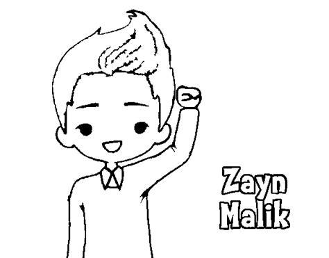 imagenes para dibujar a lapiz de one direction dibujo de zayn malik para colorear dibujos net