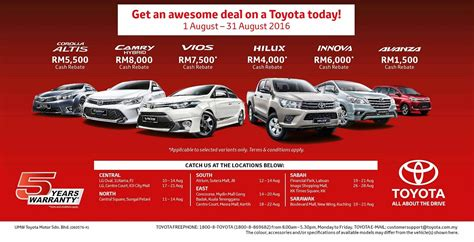 Toyota 5 Year Warranty Transferable Toyota Celebrates Merdeka With Offers Autoworld My