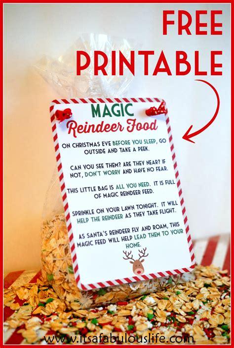 Reindeer food poem amp free printable also includes the reindeer