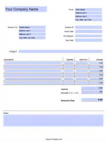 Model Invoice Template by Free Blank Invoice Templates In Pdf Word Excel