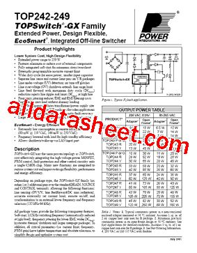 Ic Top247yn By Chacha Parts top245y datasheet pdf power integrations inc