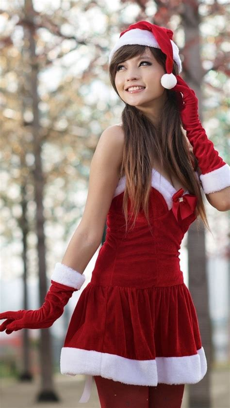 christmas asian girl iphone wallpaper iphone wallpapers