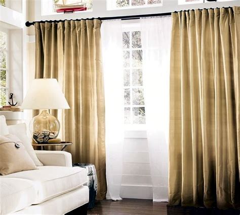 Winter Drapes Matching Curtains And Drapes Adorn The Windows 30