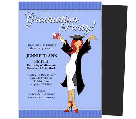 terrific printable graduation party invitations as graduation party