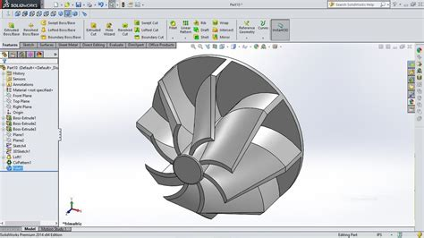 Tutorial Turbo Solidworks | solidworks tutorial turbo fins youtube