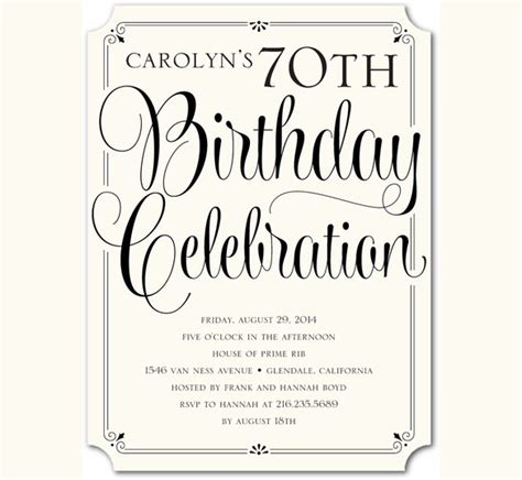 sle invitation template free birthday invitation templates for adults 28 images