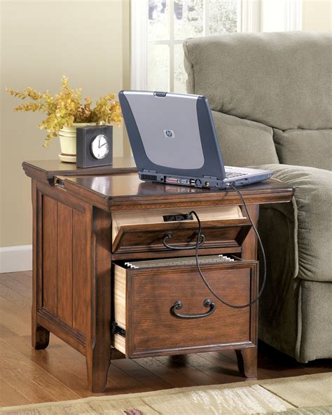 woodboro rectangular end table with work station from