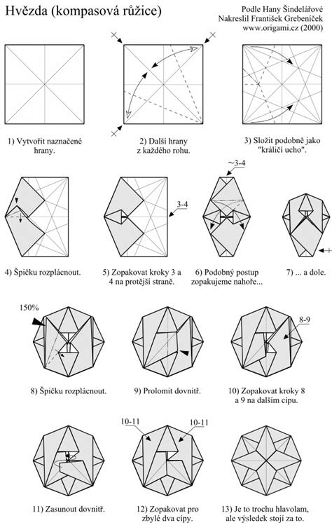 Origami Diagram - mike s origami origami diagram links ornaments and