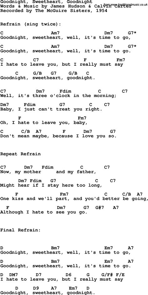 Goodnight Sweetheart Song