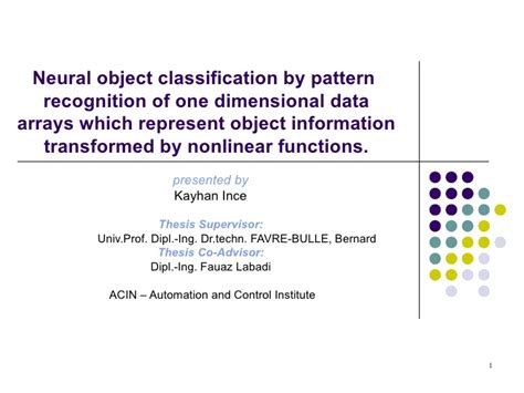 pattern recognition classification neural object classification by pattern recognition of one