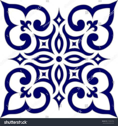 blue arabesque islamic geometric patterns inside an old geometric islamic pattern arabesque blue white stock