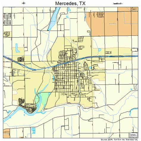 map of mercedes texas mercedes texas map 4847700