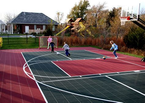 backyard tennis game multi game courts at basketball goals com