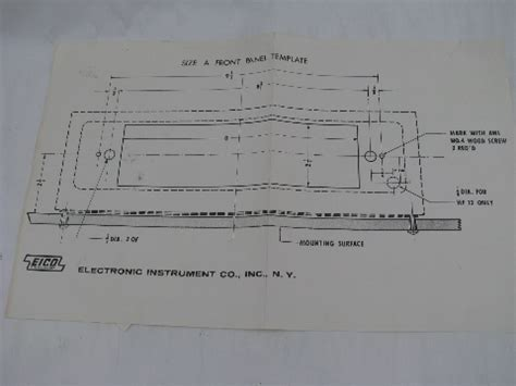 Original Heidelberg Sheet Stop 1 original eico hft 92 vacuum am fm stereo radio tuner manual w drawings etc