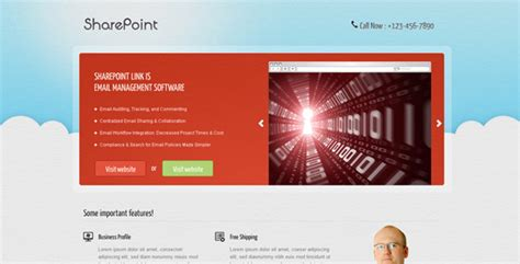 Sharepoint Landing Page Templates Sharepoint Landing Page By Owltemplates Themeforest