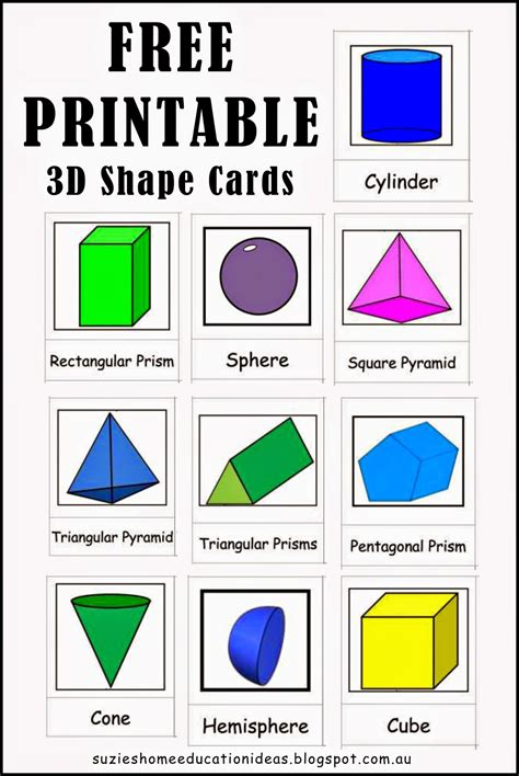 free printable shapes poster exploring 3d shapes 3d shapes 3d and shapes