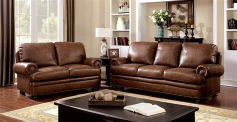 traditional brown leather sofa arther traditional brown sofa loveseat in top grain leather