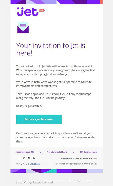 17 Best images about Invitation Emails on Pinterest   Jets