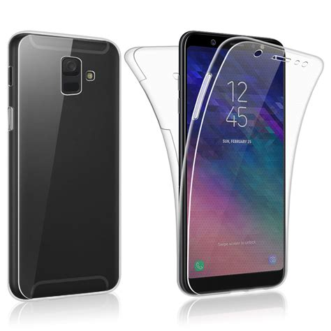 samsung a6 sdtek samsung galaxy a6 2018 360 cover silicone front back ebay