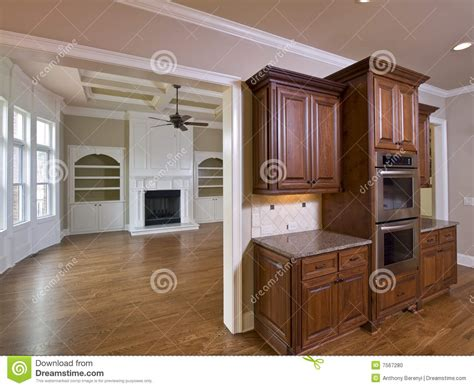 upscale kitchen cabinets luxury home interior kitchen cabinets stock photo image