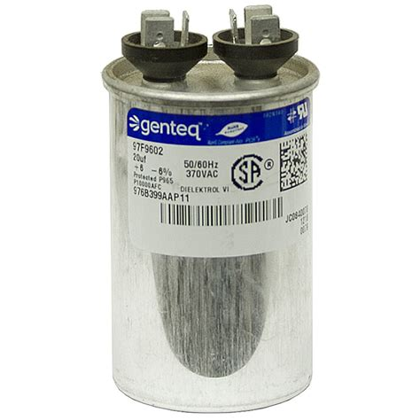 what does mfd capacitor 20 mfd 370 vac run capacitor genteq motor run capacitors capacitors electrical www