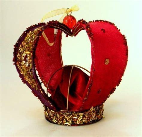 christmas ornament biltmore velour burgundy glitter crown