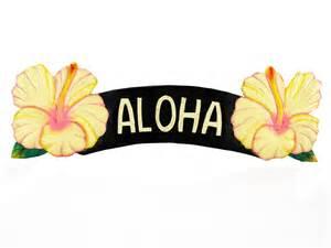 Outdoor Beach Rugs Aloha Yellow Hibiscus Sign