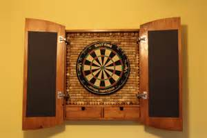 custom dart board cabinet with drawers