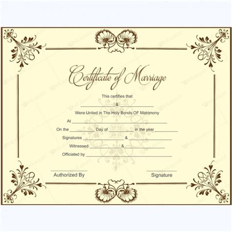 How Do You Find Marriage Records For Free Printable Marriage Certificate Sles
