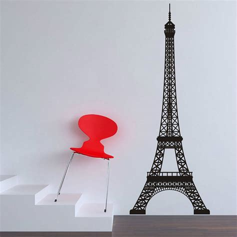 eiffel tower wall stickers by parkins interiors notonthehighstreet