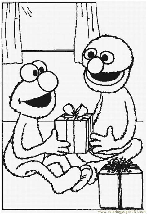 Elmo Coloring Pages Birthday Coloring Home Elmo Birthday Coloring Pages