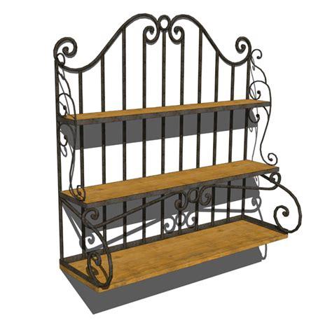 wrought iron shelf 3d model formfonts 3d models textures
