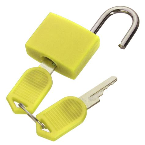 Diskon Huben Kunci Loker Locker 20mm Lock 20mm 20mm neon colored plastic coated brass padlock travel luggage padlocks lock uk yellow intl