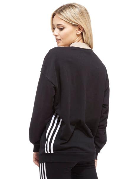 Chevron Sweatshirt lyst adidas originals chevron sweatshirt in black