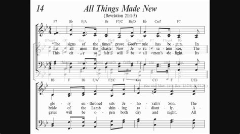 libro all things made new sing to jehovah quot all things made new quot congregational singing song 14 youtube
