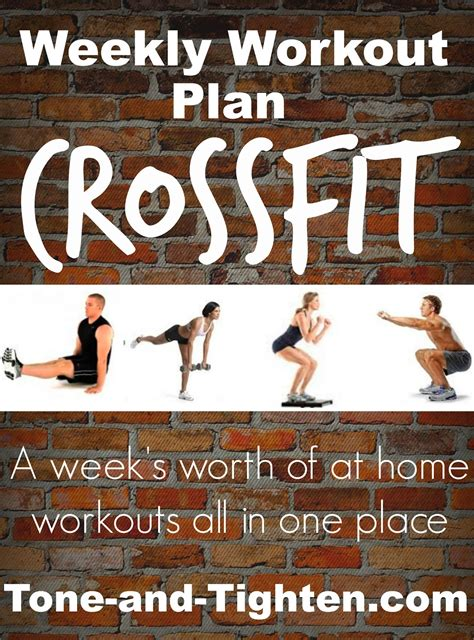 weekly workout plan at home crossfit inspired workouts
