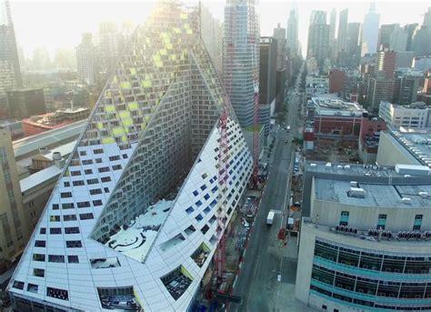 designboom new york drone video documents progress at big s courtscraper