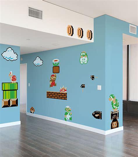 mario brothers wall stickers mario bros vinyl wall decals geektyrant