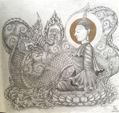 naga buddha tattoo บ ชาพ ทธองค buddha and naga buddha naga peace thaiart