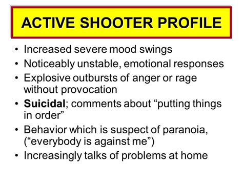 mood swings anger outbursts school active shooter intervention prevention response
