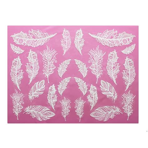 Lace Mats For Cake Decorating by Cake Lace Feathers 3d Large Lace Mat Cake Decorating