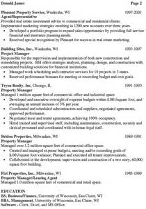 Apartment Property Manager Sle Resume by Consultant Executive Resume