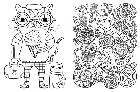 Awesome Cat Coloring Books Gallery   Coloring Page Design