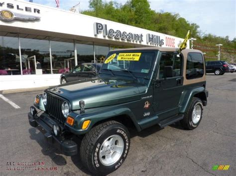 jeep sahara green 2002 jeep wrangler sahara 4x4 in shale green metallic