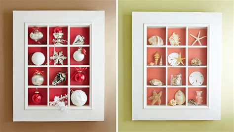 Seashell Bathroom Ideas Shadow Box Display Case