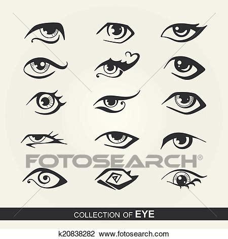 clipart occhi clipart stilizzato set di occhi k20838282 cerca
