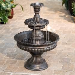 Water Fountain For Patio by Garden Classic 3 Tier Outdoor Fountain Fountains At
