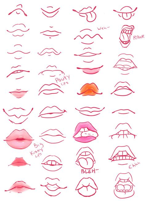 tumblr drawing anime i ve tried this one it s pretty lip reference tumblr