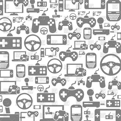icon pattern background free background made of video game icons royalty free vector