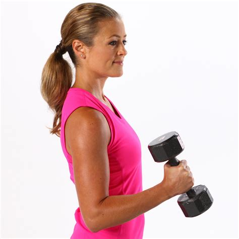 Bicep Free Weight beginner arm workout with weights popsugar fitness